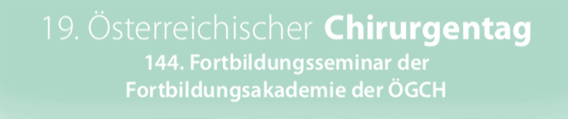 Köhler mit zwei Vorträgen und Vorsitz am Österreichischen Chirurgentag vertreten